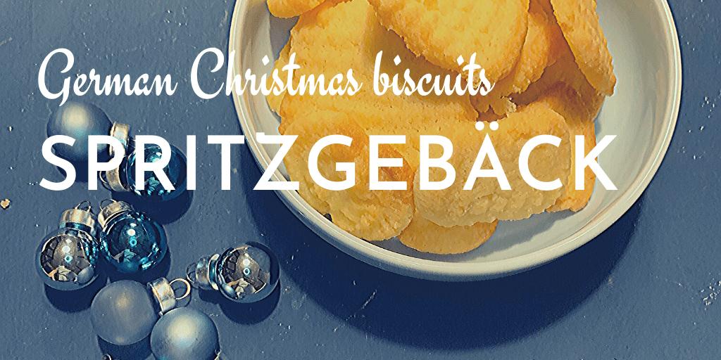 German Christmas biscuits; German Christmas cookies; German Spritzgebäck; Spritzgebaeck; German shortbread cookies