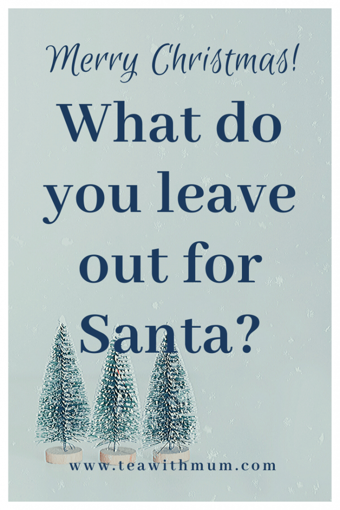 """We combined Christmases, but forgot to answer the question, """"What do you leave out for Santa?"""" Don't forget to work out this detail in advance and have a very Merry Christmas"""