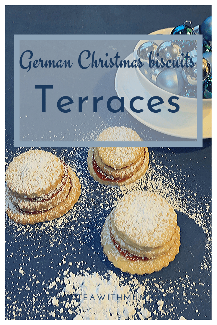 German Christmas biscuits: Terraces - a great Christmas cookie that also works well for other celebrations or afternoon tea - a great Christmas cookie to make with kids