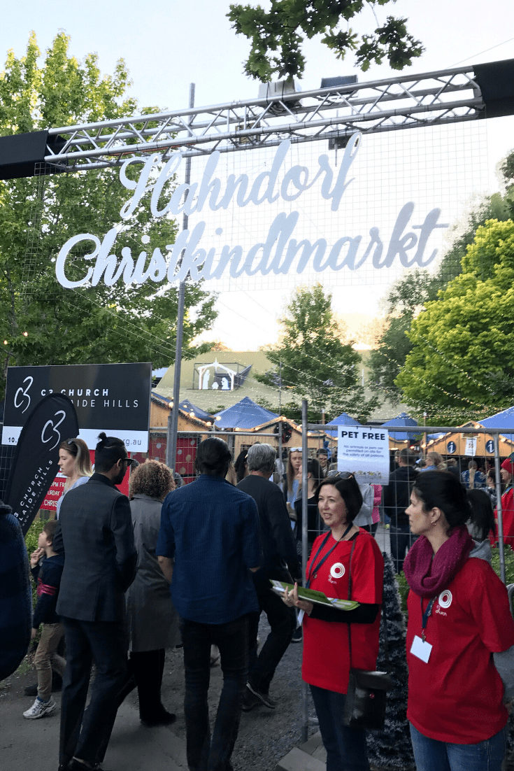 The Hahndorf Christkindlmarkt in Hahndorf in the Adelaide Hills.
