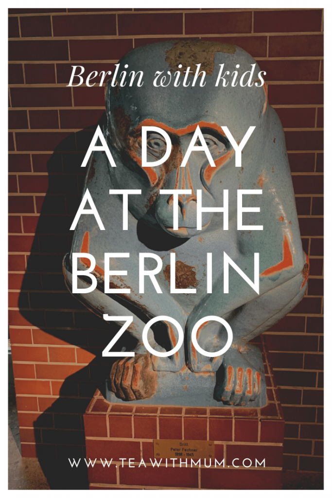 An afternoon at the Berlin Zoo, with image of blue and orange statue 'Drill' by Peter Fechner (1898 - 1945)