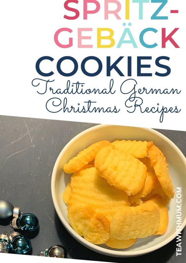 Pin - Spritzgebäck cookies: traditional German Christmas Recipes - with image of Spritzgebäck cookies
