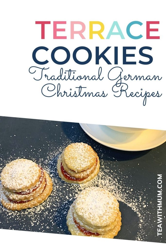 Pin: Terrace cookies, Traditional German Christmas Recipes, with image of terraces