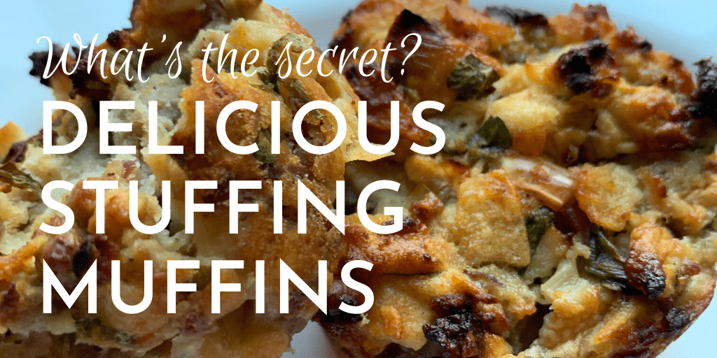 Delicious stuffing muffins - with a secret ingredient. Can be used to stuff a turkey, chicken or goose, or to make as muffins