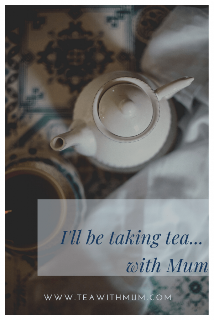 The bad kind of anniversary - the anniversary of her death. I will be taking tea... with my Mum.  Photo: Gaelle Marcel on unsplash