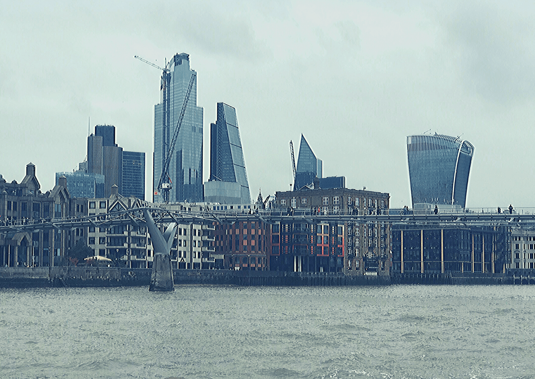 Start day 2 of your three days in London with a small child with a boat trip on the Thames. Here is the view of the London skyline from the public ferries.