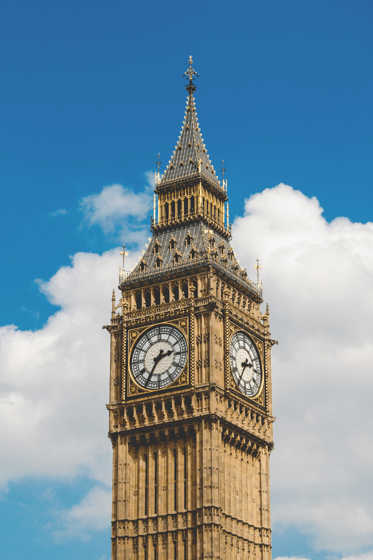 The next stop on our ultimate London itinerary: Big Ben and the Houses of Parliament. Photo: Henry Be on unsplash.