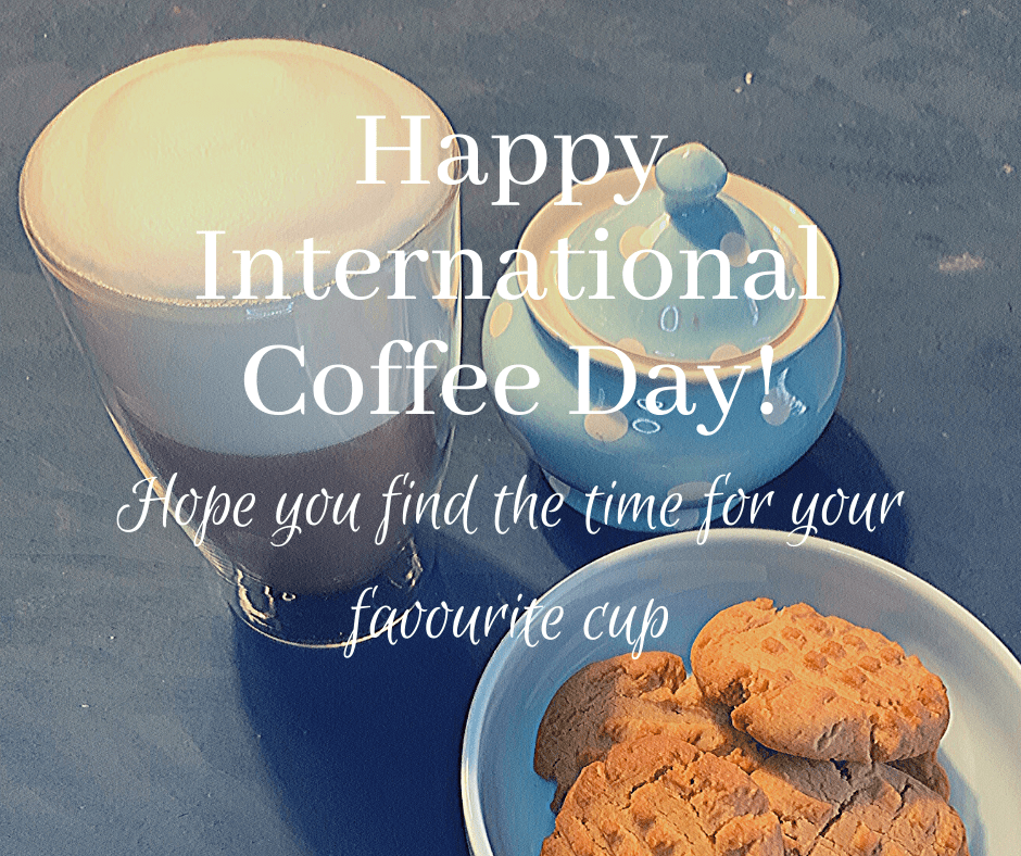 Happy International Coffee Day: Happy Blogtober. The first day of Blogtober previewed Grandma's peanut butter biscuits, and the fans wanted the recipe.