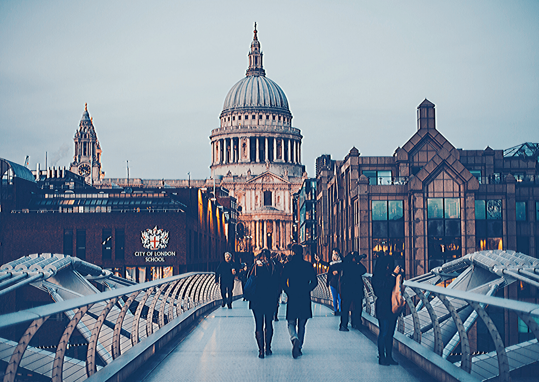 View of St Paul's Cathedral from the Millennium Bridge. Photo: Anthony Delanoix on unsplash.