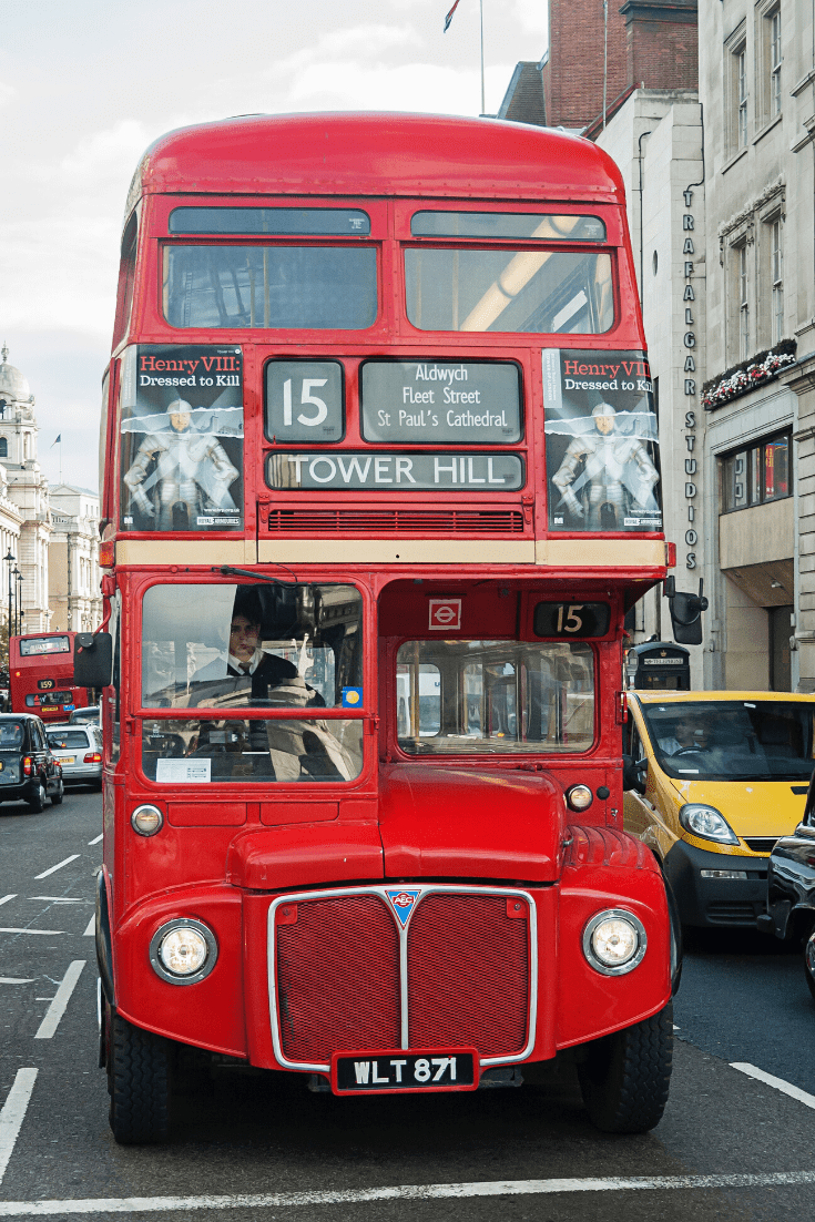 Three days in London with a small child: make sure you take a ride on an iconic red double-decker bus. Photo: David Henderson on unsplash.