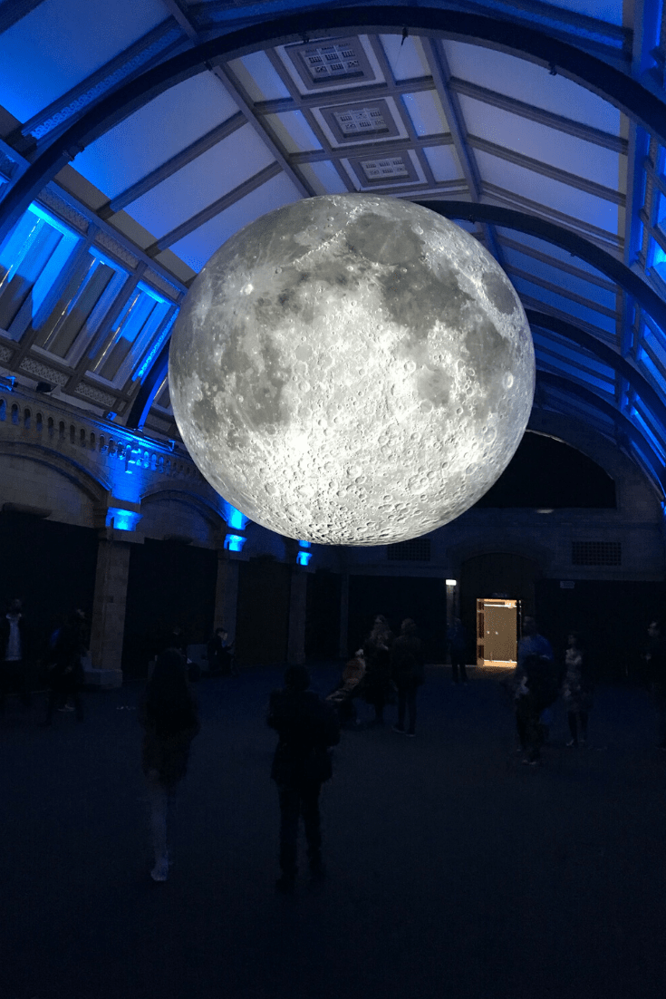 Impressive but impressively simple temporary exhibit at the Natural History Museum: the Moon