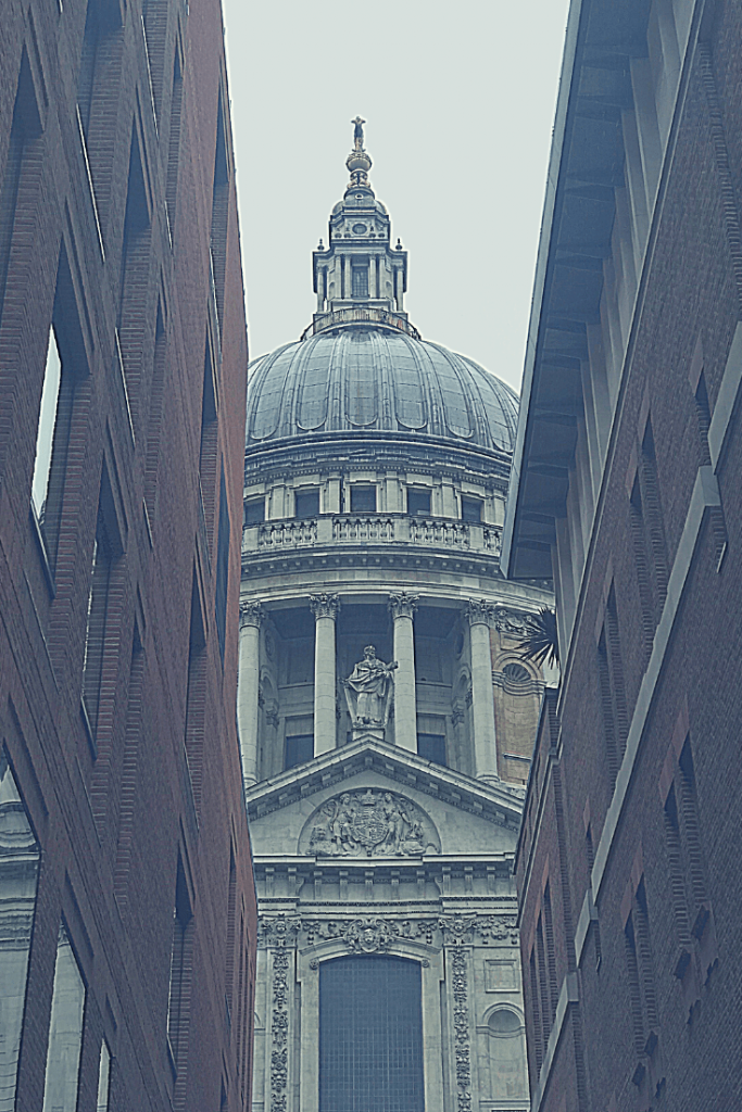 St Paul's Cathedral was one of the longer stops on our three days in London with a small child. Our small child loved it! View of St Paul's from Queen's Head Passage.