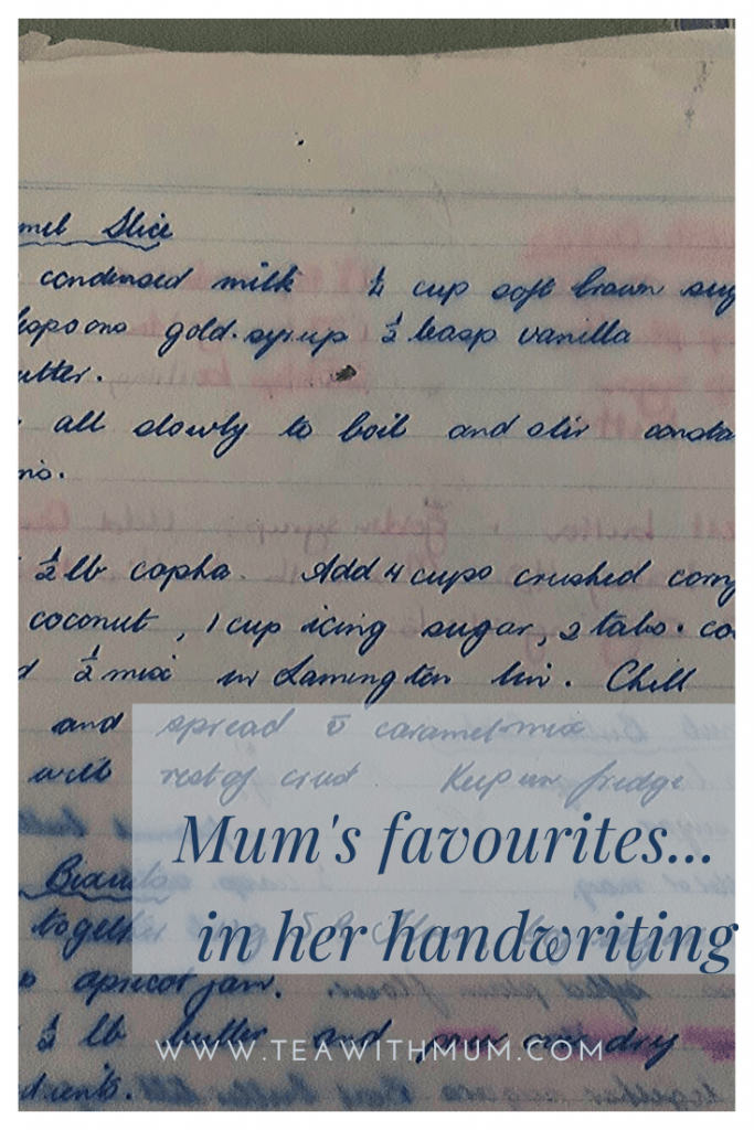 The bad kind of anniversary - the anniversary of her death. I am thinking about writing a cookbook in memory of my Mum. This is one of her cookbooks, with some of her favourite recipes in her own handwriting.
