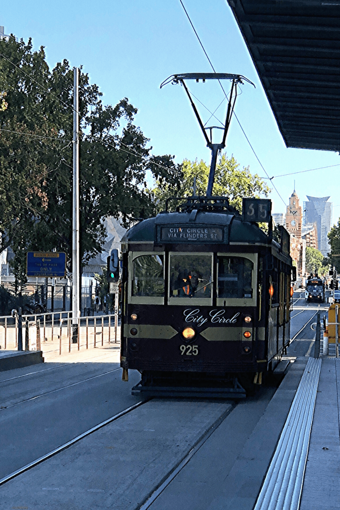 Number 3 of 13 fun things to do and see in Melbourne with kids: Ride the trams. The quintessential Melbourne mode of transport is convenient and fun.