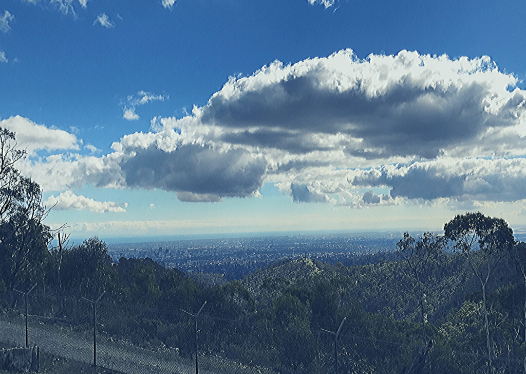 The view over the Adelaide Plains from Cleland/Mount Lofty