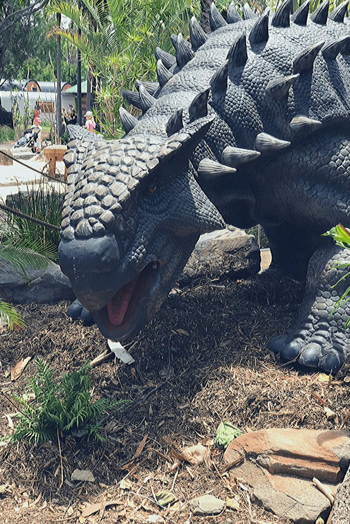 Adelaide with kids: Dinosaurs at the zoo! Here an Ankylosaurus