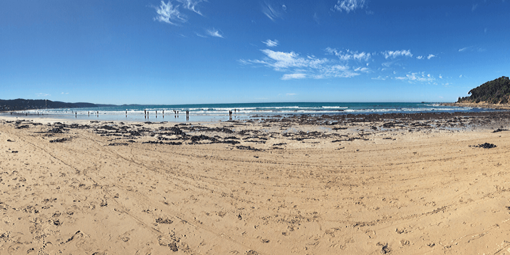 Lorne beach, a great place to stop for a swim when visiting the Great Ocean Road with kids