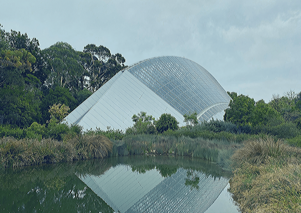 The Bicentennial Conservatory in the Botanic Gardens, one of the sights to see in the Adelaide Parklands