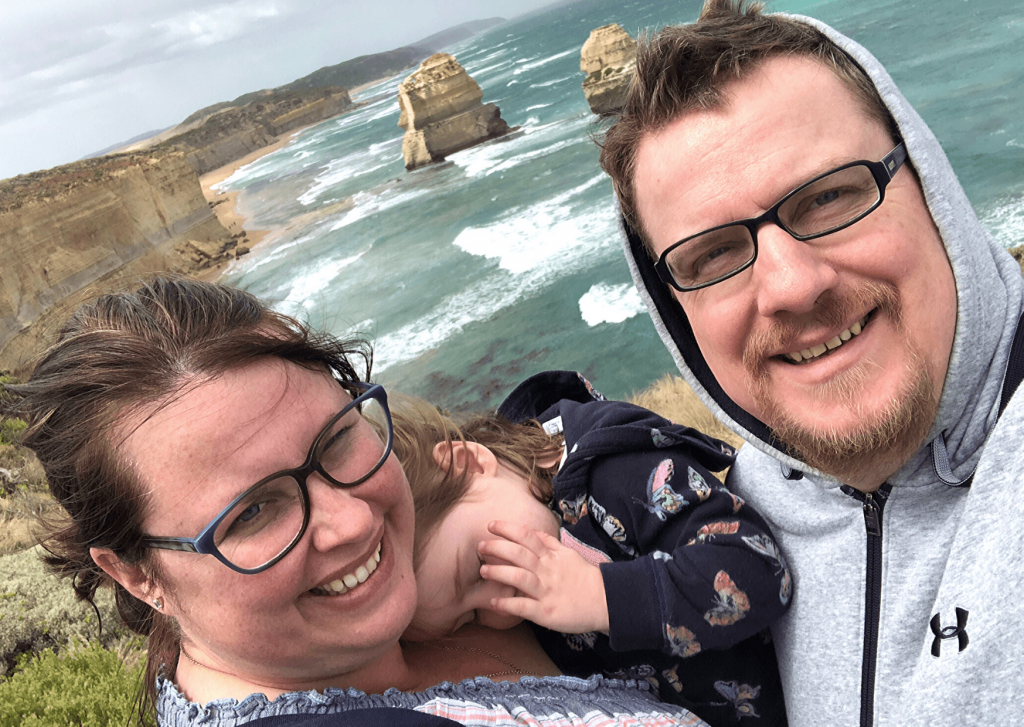 Touring the Great Ocean Road - us at the 12 Apostles