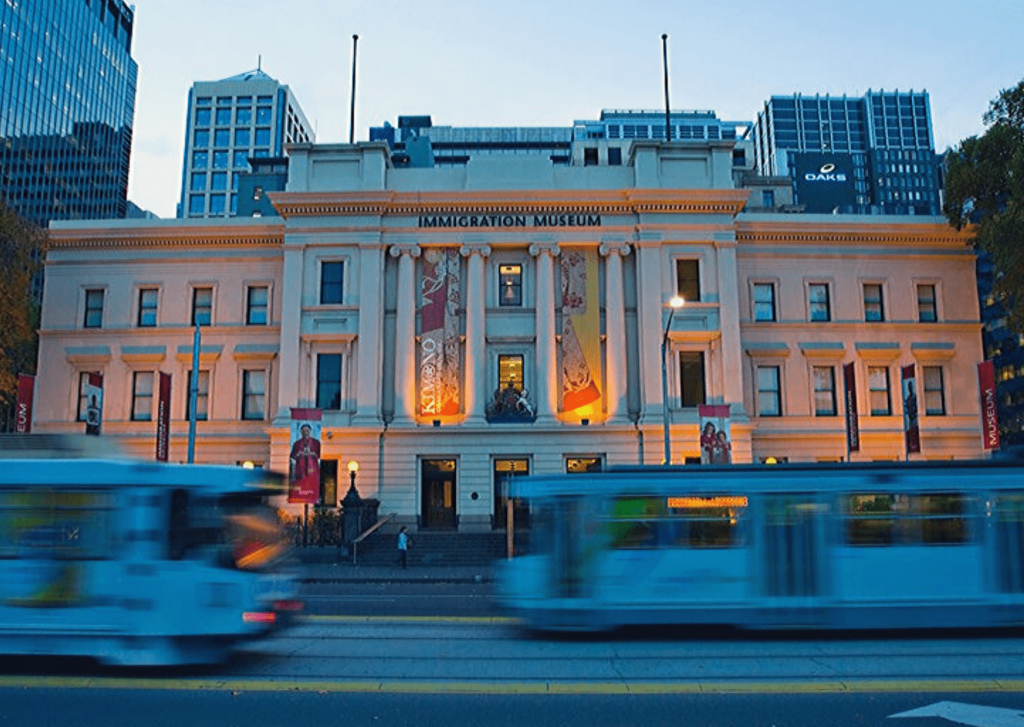 Number 11 of 13 fun things to do and see in Melbourne with kids: Visit a(nother) museum- there is a great range of fun and informative museums in Melbourne that you are sure to find one to visit in Melbourne with your kids, whatever their age and interests. Photo of the Immigration Museum. Source: Museum Victoria, Photo: James Geer