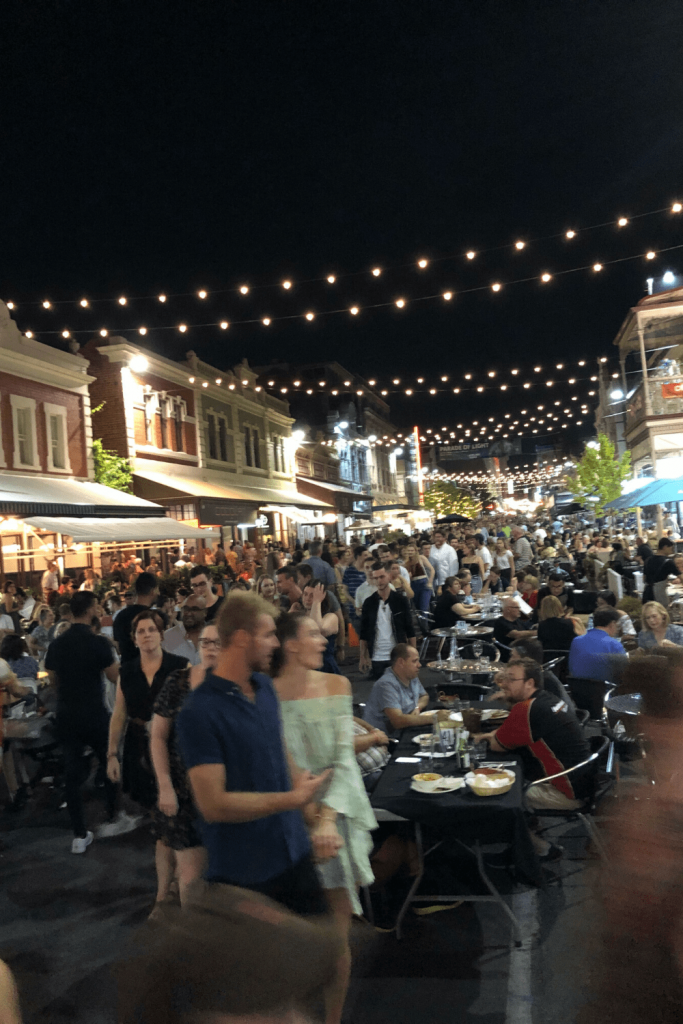 Rundle Street on a Saturday night during the Fringe Festival. It has a great selection of restaurants and bars.