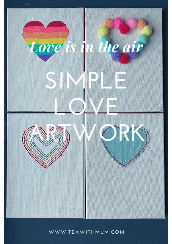 How to make simple Valentine's Day art