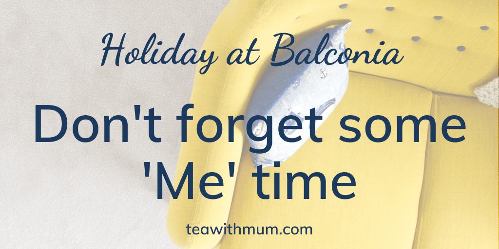 Holiday at Balconia: Don't forget some 'Me' time: Image of yellow sofa