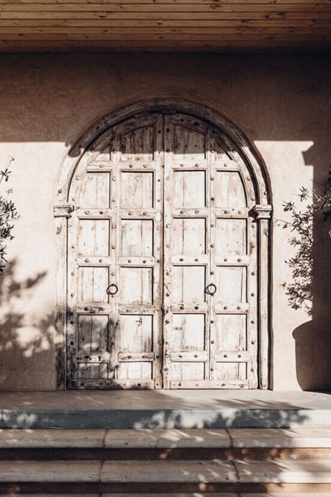 Ornate doors at the Bird in Hand cellar door. Source: Bird in Hand Winery