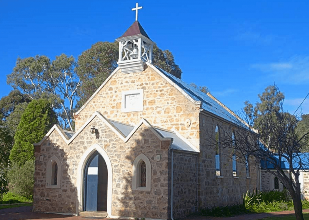 Historic Christ Church at Yankalilla, part of the Heritage Trail. Photo: Western Fleurieu Anglican Parish