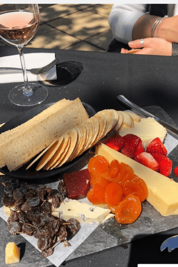 Cheese platter to go with some of their delicious wines: Bird in Hand winery cellar door. Source: Tripadvisor