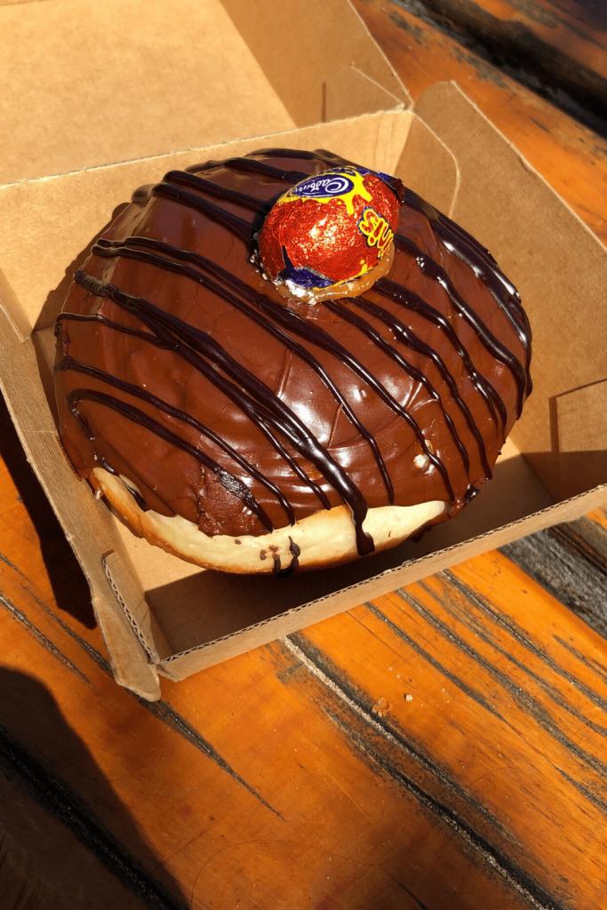 A Port Elliot Bakery Doughnut of the Month, Port Elliot, Fleurieu Peninsula