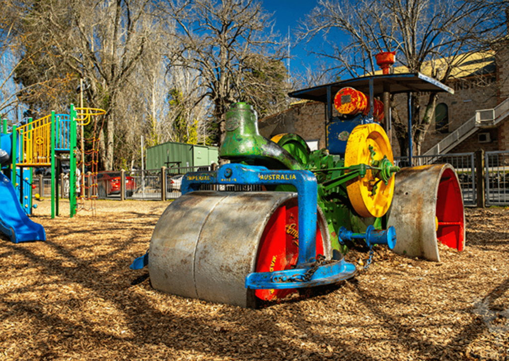 What to do in the Adelaide Hills with small kids: try Steamroller Park at Stirling