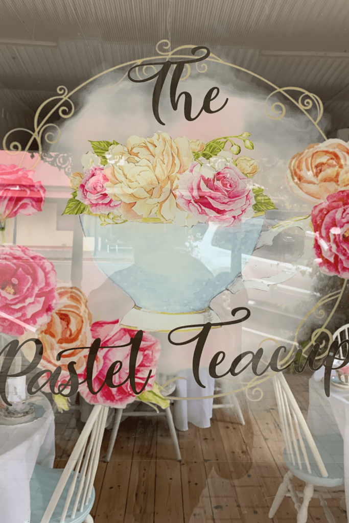 The Pastel Teacup window, Strathalbyn, Fleurieu Peninsula