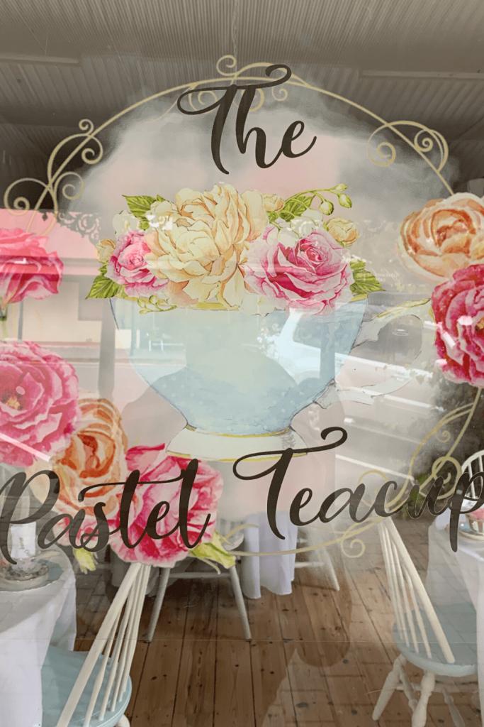 The Pastel Teacup window, Strathalbyn, Fleurieu Peninsula