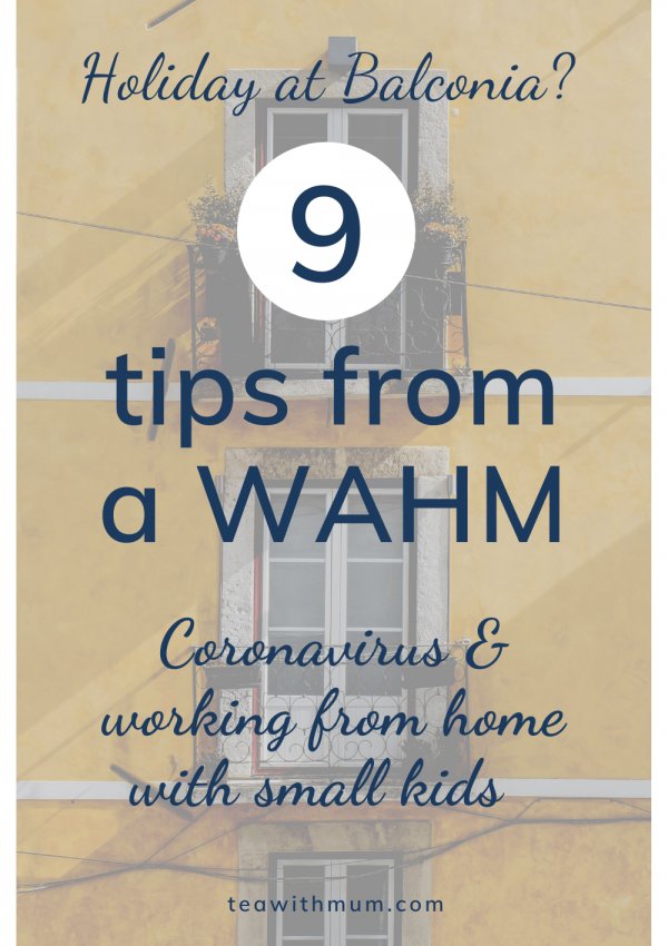 Holiday at Balconia? 9 tips from a WAHM: Coronavirus and working from home with little kids; Image of yellow house with balconies by Lily Popper on Unsplash