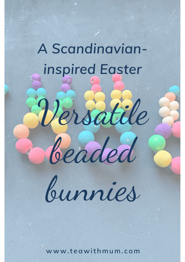 Versatile beaded Easter bunnies: simple Scandinavian-inspired Easter decorations