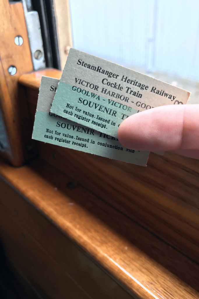 Tickets for the Cockle Train, Fleurieu Peninsula