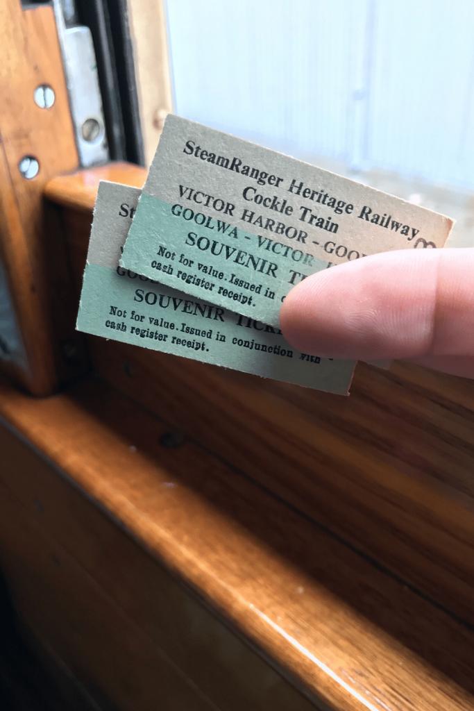 Tickets for the Cockle Train, Fleurieu Peninsula