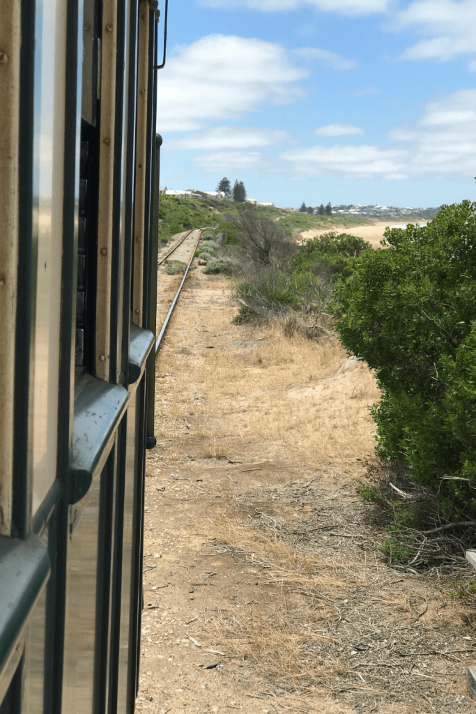 View from the Cockle Train towards the Beach - Goolwa to Victor Harbour Fleurieu Peninsula