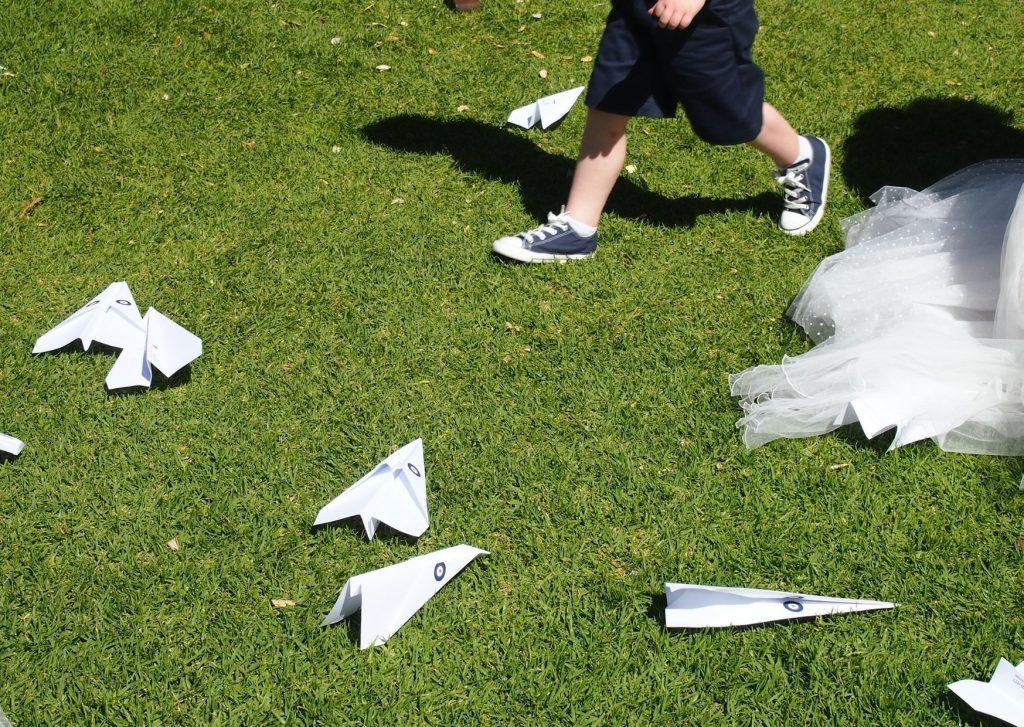 Paper planes instead of confetti