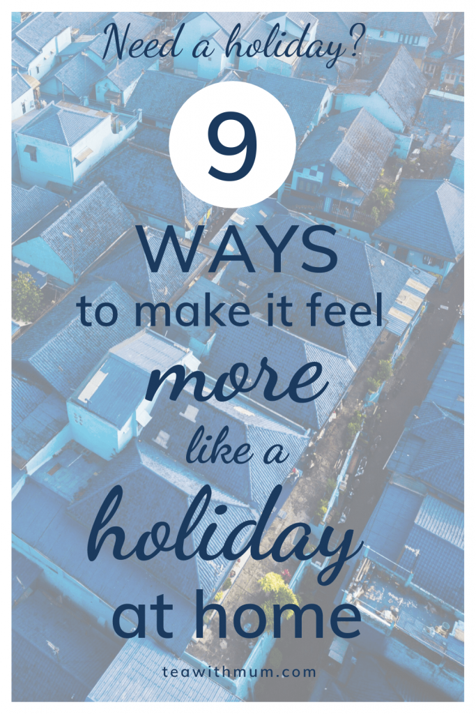 Need a holiday? 9 ways to make it feel more like a holiday at home; 9 ways to get the travel look and feel at home; image of blue house roofs