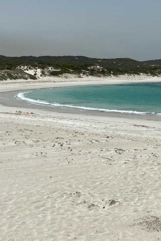 Hanson Bay beach with its beautiful white sand and turquoise waters, Kangaroo Island