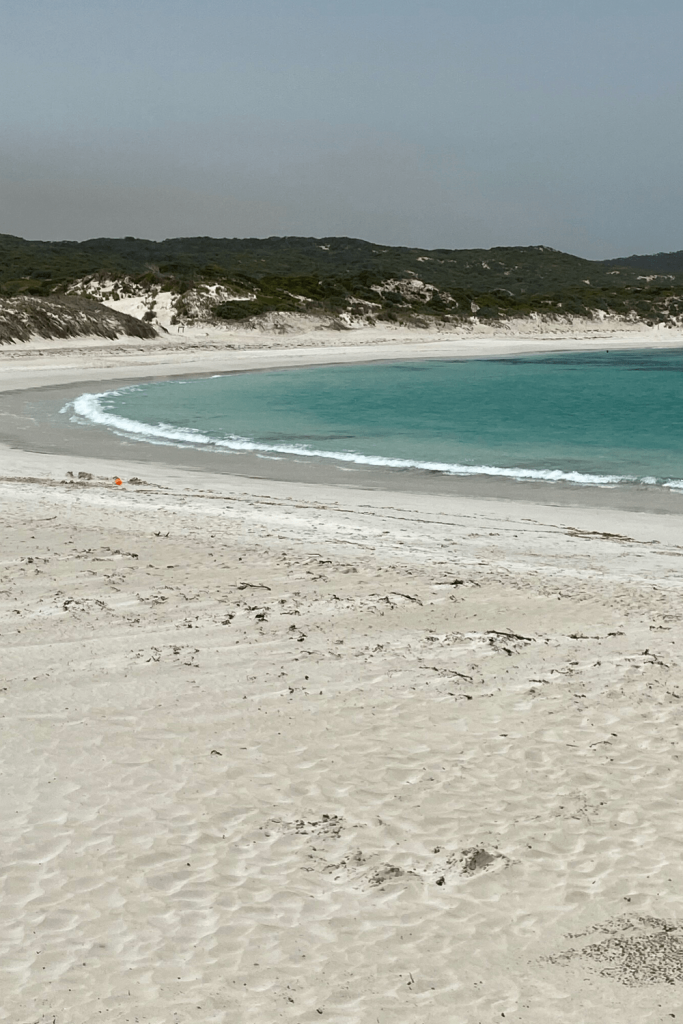 Beautiful beaches on Kangaroo Island, even when bushfires are not far away. Hanson Bay beach