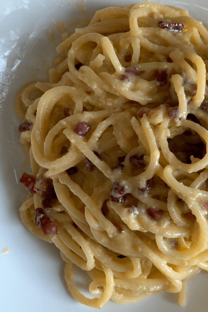 Delicious and simple traditional spaghetti carbonara, the way the Italians make it (whether in Rome or Verona)