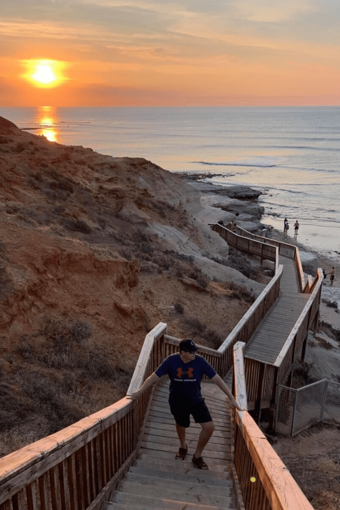 Iconic steps at Southport Beach, Port Noarlunga, one of the best Adelaide beaches: Image: Nancy Johns