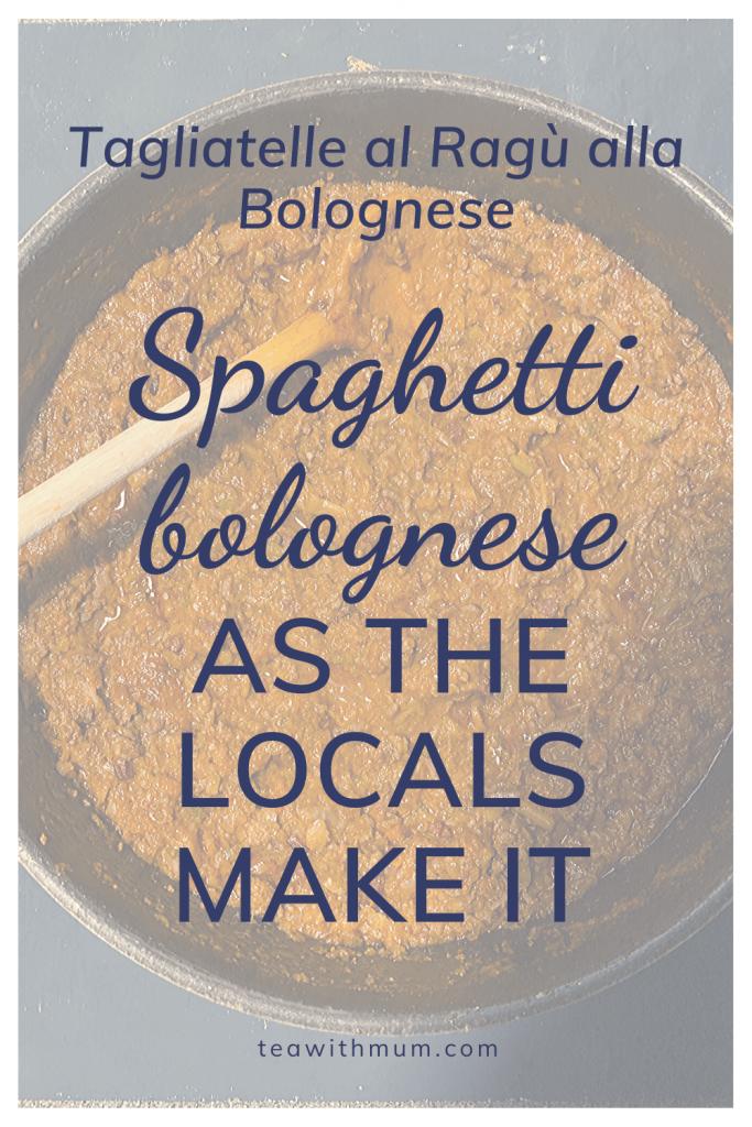 Tagliatelle al Ragù alla Bolognese; Spaghetti bolognese, as the locals make it: our recipe memory or Bologna; serving pan of traditional spaghetti bolognese sauce