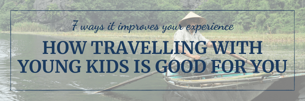 7 ways that travelling with young kids is good for your own experience; image of man in a rice hat rowing boat by Peter Livesey on Unsplash