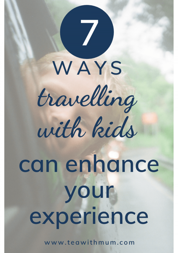 7 ways how travelling with young kids can enhance your own experience; image of child with his head hanging out of the car by Anton Luzhkovsky on Unsplash
