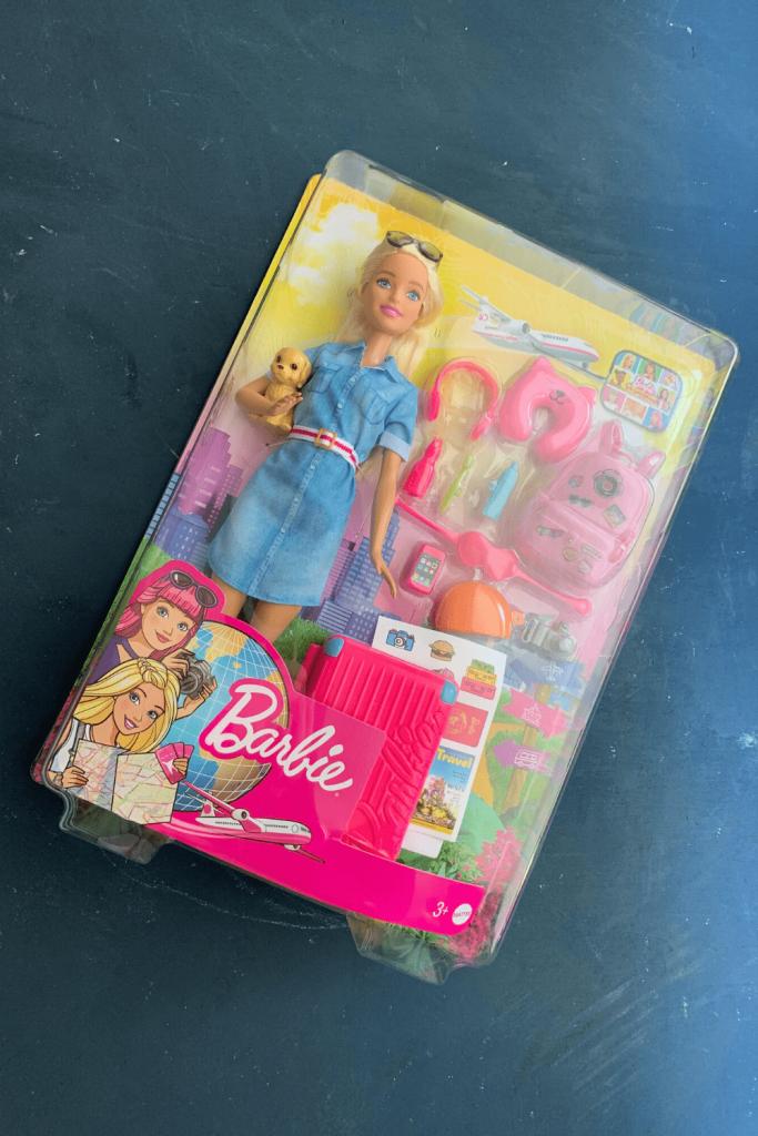 Travel Barbie, in box