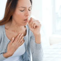 Three things about me: I have a TOF cough (also called TEF cough) - image of woman coughing